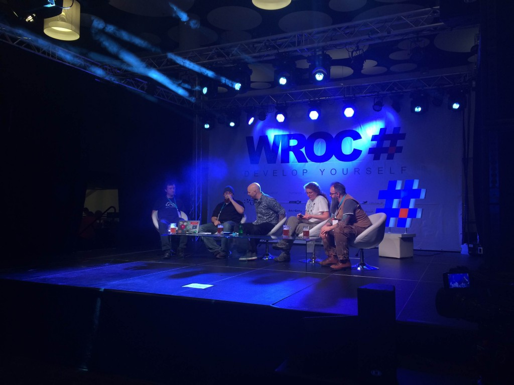 Wroc# 2016 - speakers during discussion panel